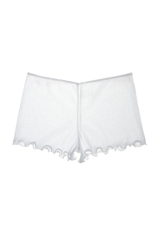 White cotton sleep shorts by Araks