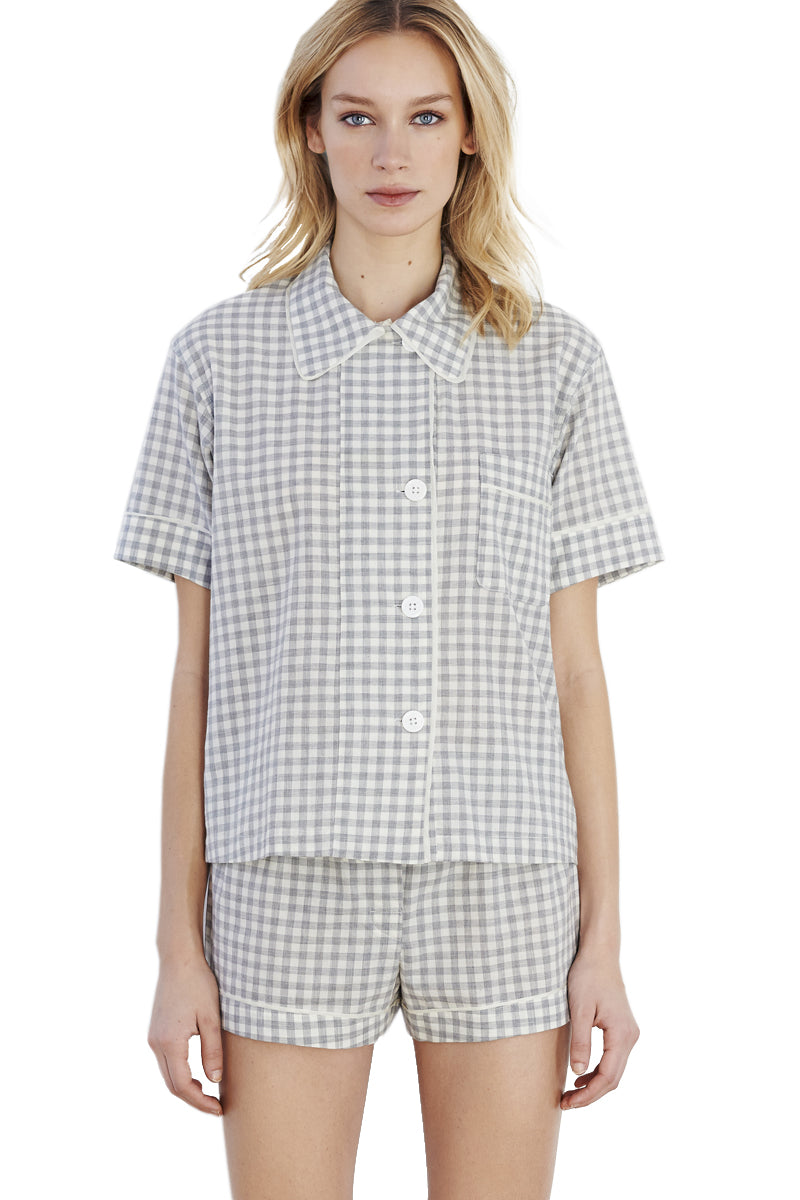 Grey gingham Tia boxer by Araks
