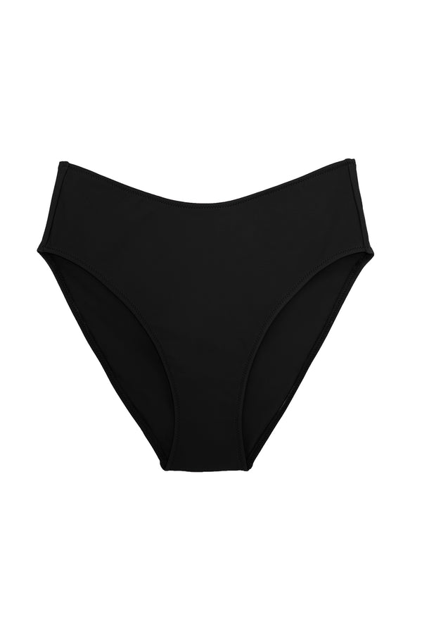 Black high rise Ulla bikini bottom by Araks