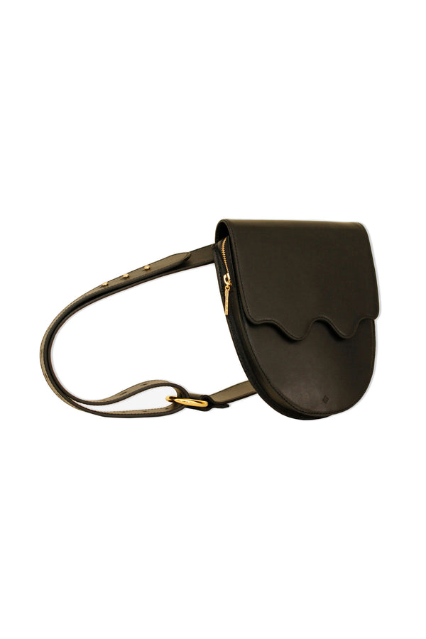 Onyx Palmetto Belt Bag by ASHYA
