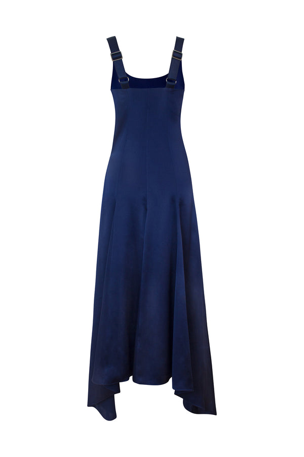 Casilda Deep Night Navy Dress by Alejandra Alonso Rojas