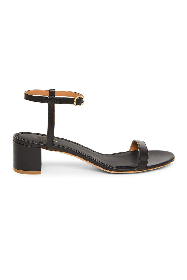 Black Small Heel Ankle Strap Sandal by Mansur Gavriel