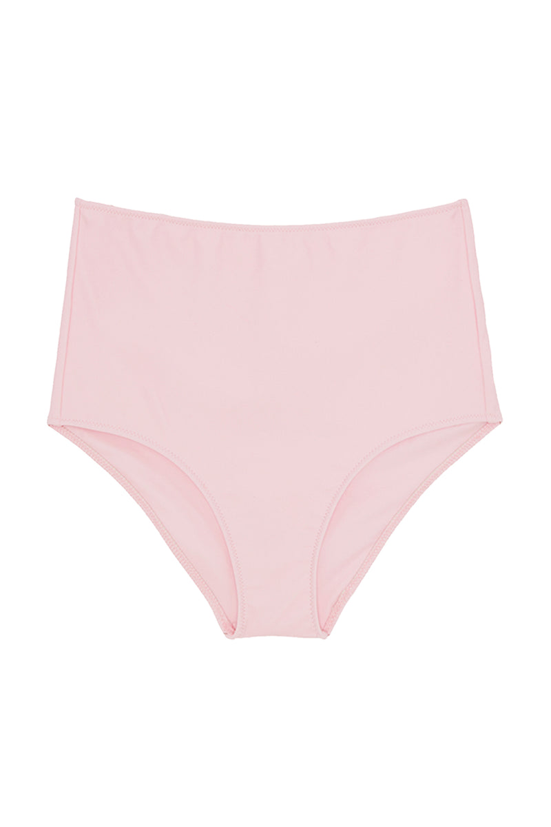 High waisted pink Mallory bikini bottom by Araks