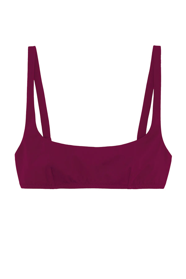 Quinn bikini top by Araks in plum