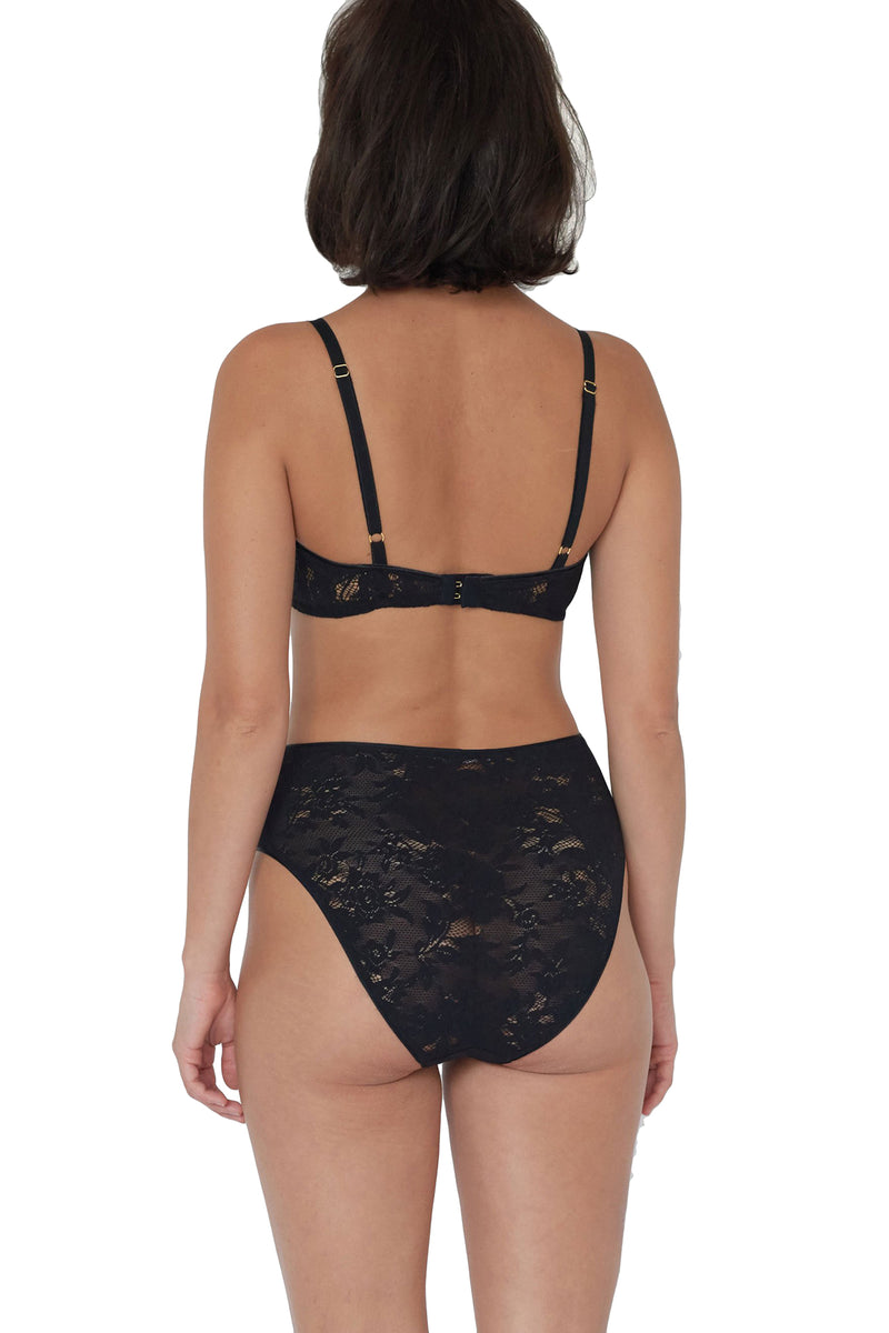 Black lace Tali panty by Araks