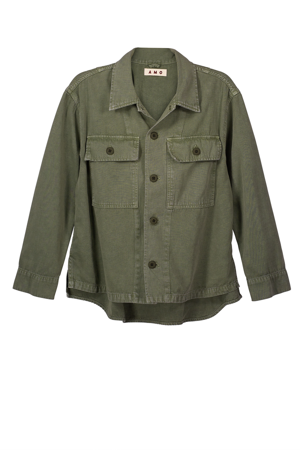 Army Shirt Jacket in Army Green | A M O