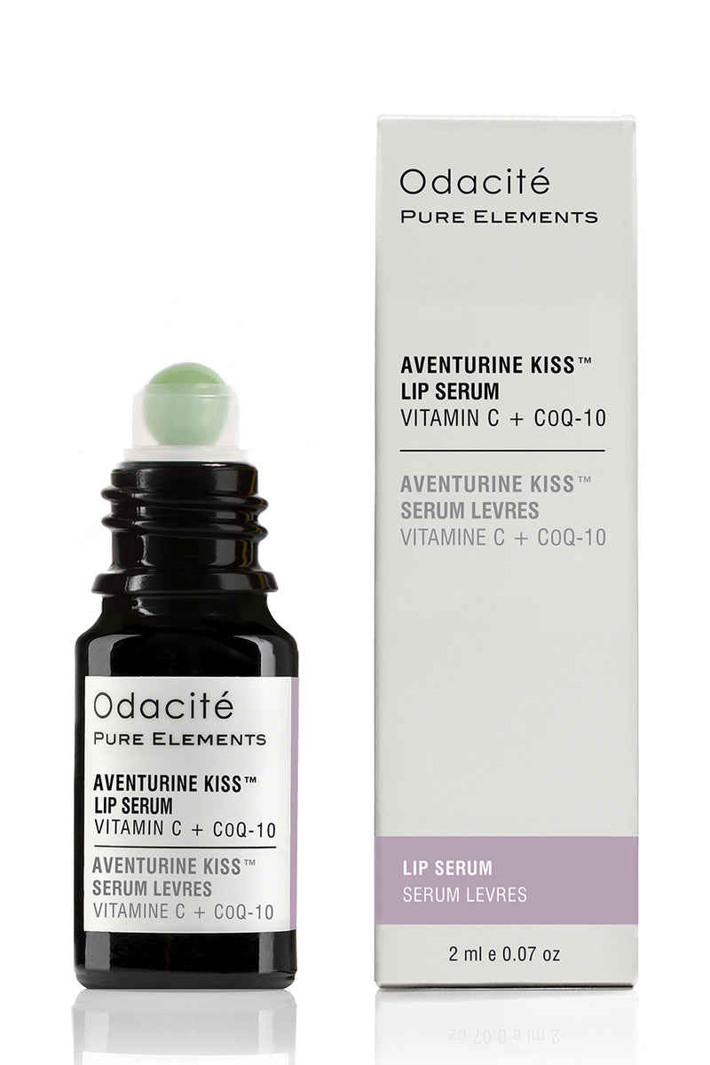 Aventurine Kiss Lip Serum rollerball by Odacité