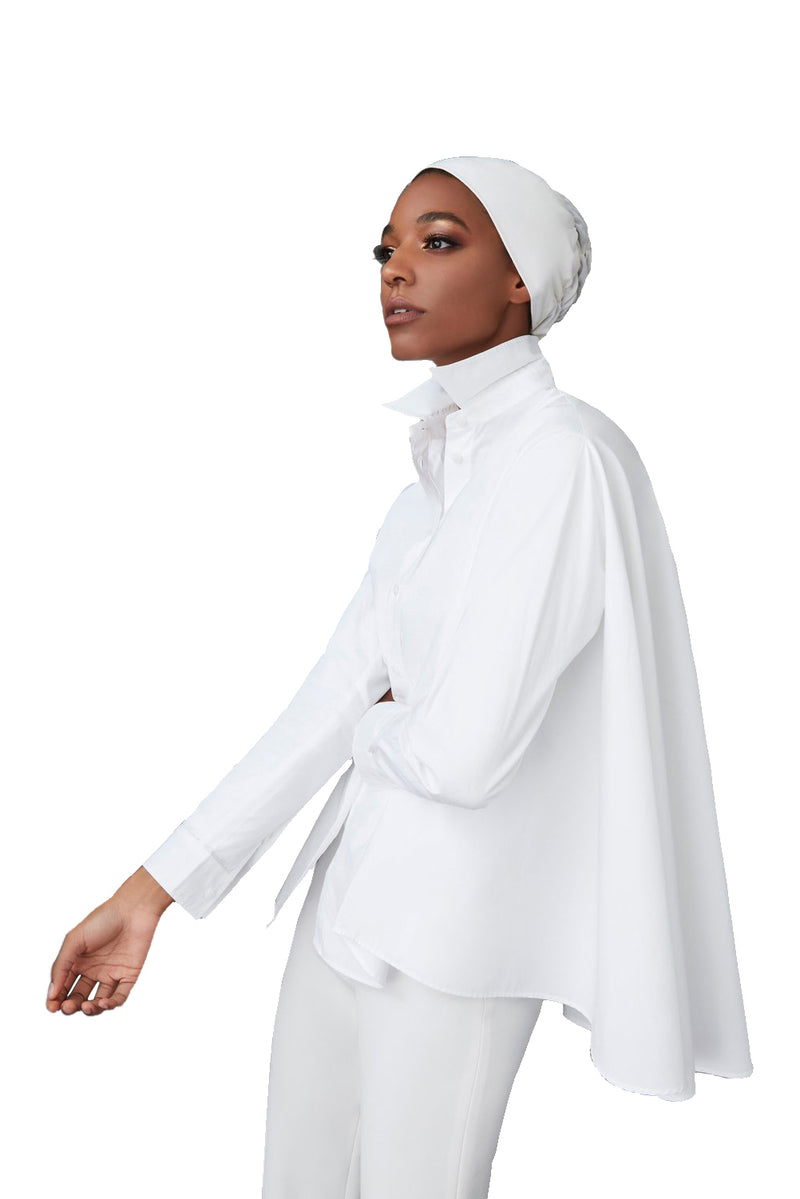 White Classic Underscarf by Haute Hijab