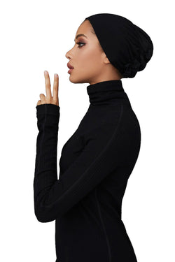 Black Classic Underscarf by Haute Hijab
