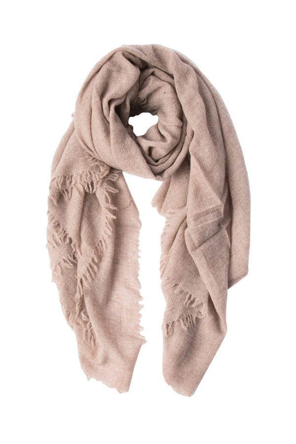 Heather brown Cashmere Scarf by Chan Luu