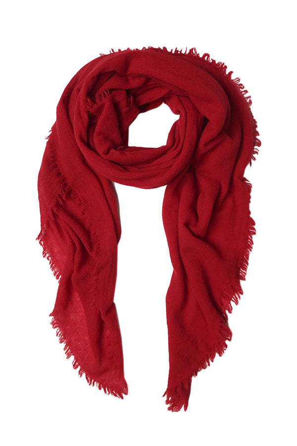 Red Cashmere Scarf by Chan Luu