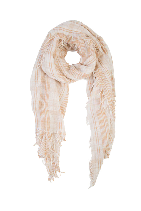 Doeskin Mix Plaid Print Cashmere And Silk Scarf by Chan Luu