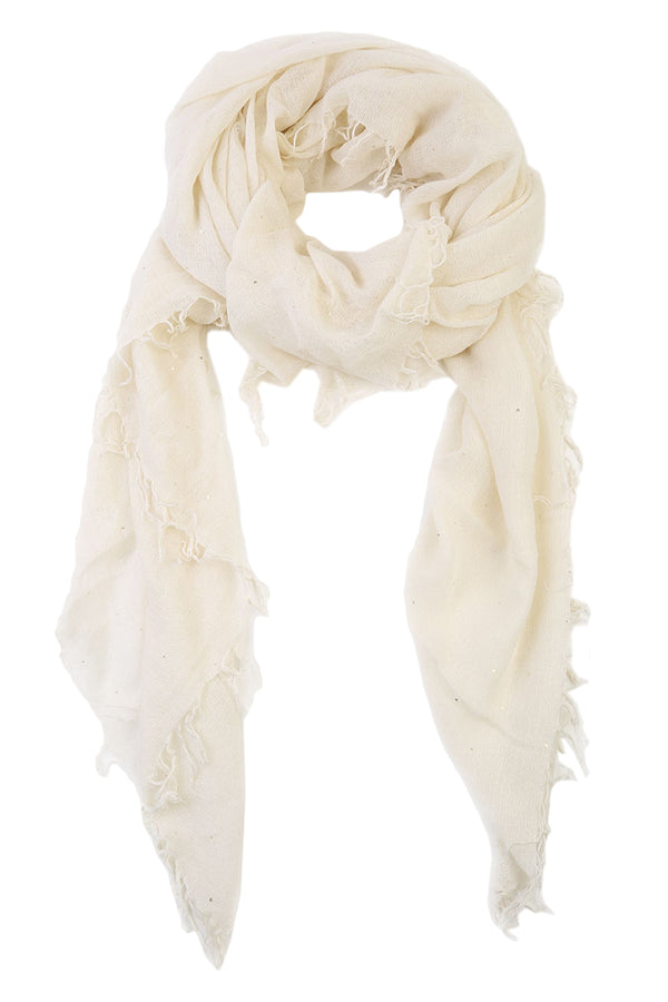 Offwhite Scattered Sequins Scarf by Chan Luu