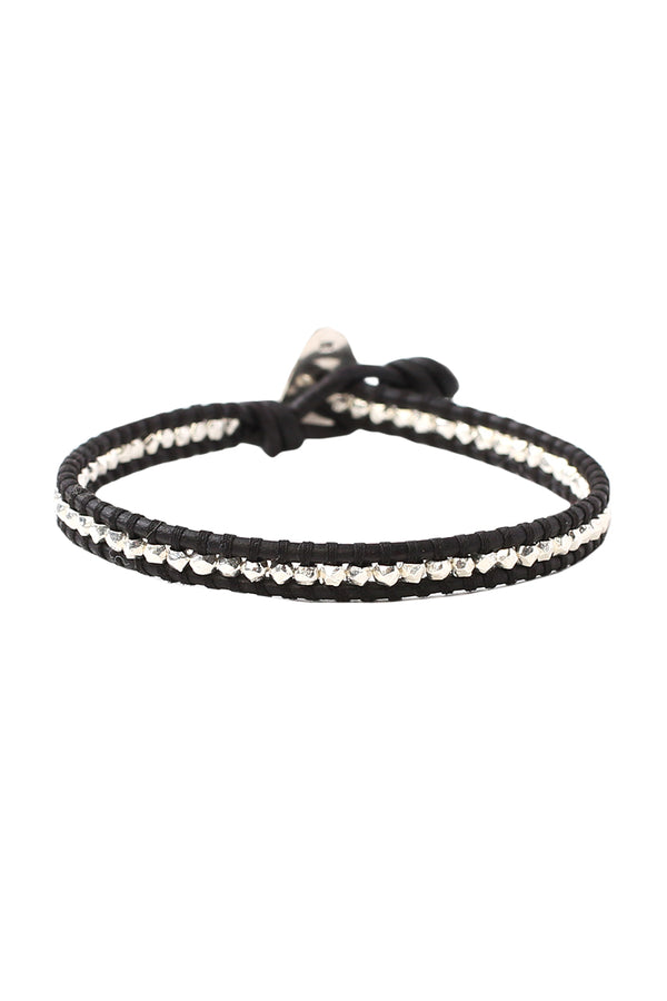Black Single Wrap Bracelet by Chan Luu