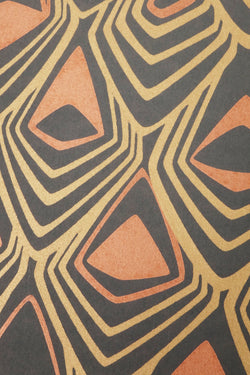 Bronze Boho Diamond Wall Paper by Michele Varian