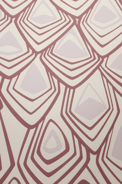 Mauve Boho Diamond Wall Paper by Michele Varian