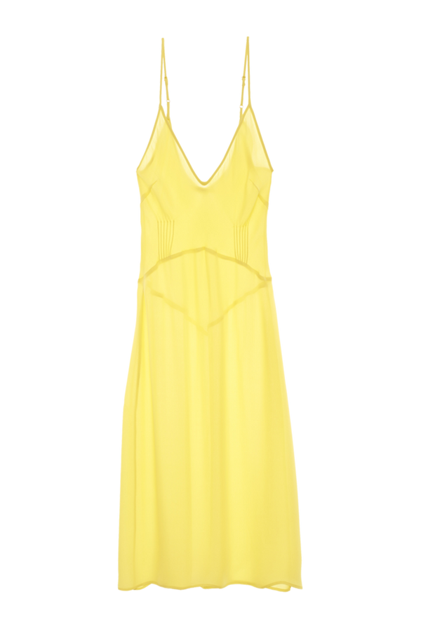 Cadel Slip dress from Araks in Lemon yellow