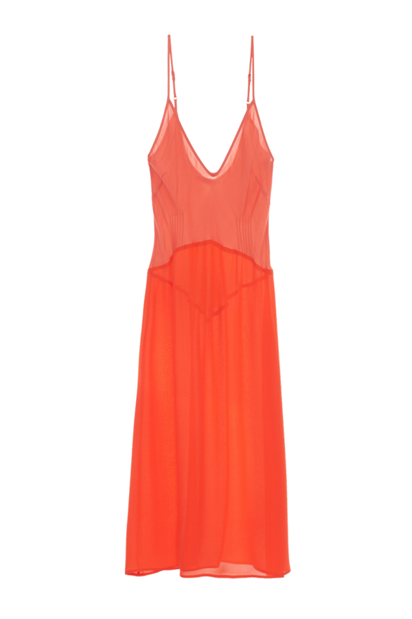 Cadel Slip dress from Araks in Poppy Rhodonite red