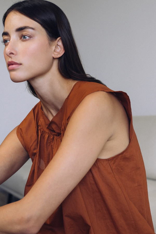 Chloe Nightgown in Burnt Sienna | Campo Collection
