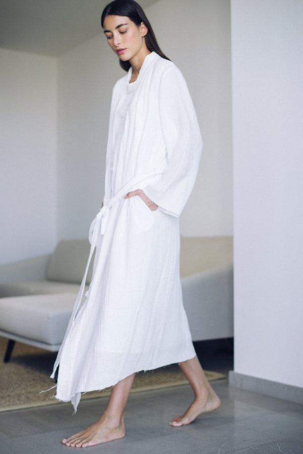 Maria Robe in Milk | Campo Collection