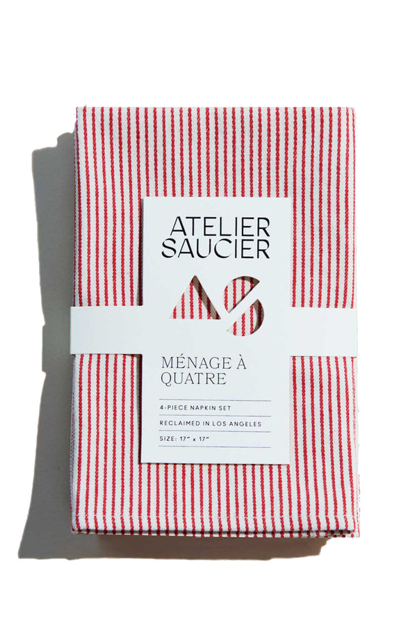 Candy Stripe Napkins (Set of 4) | Atelier Saucier