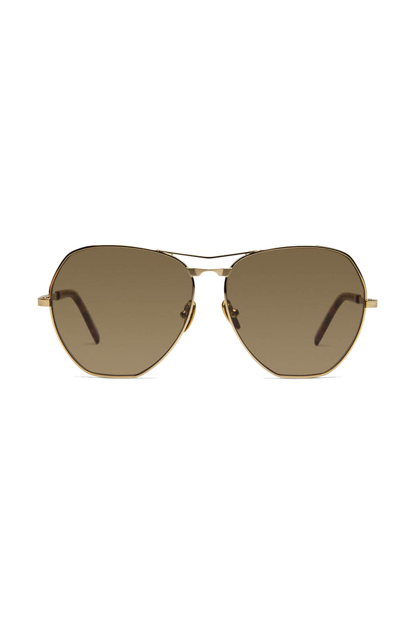 Geometric gold Avatar 101 Sunglasses by Coco and Breezy