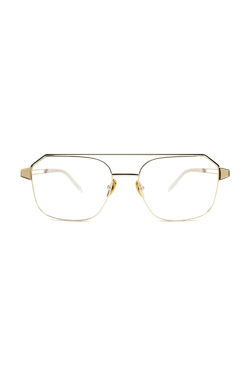 Geometric gold Gratitude 104 Glasses by Coco and Breezy