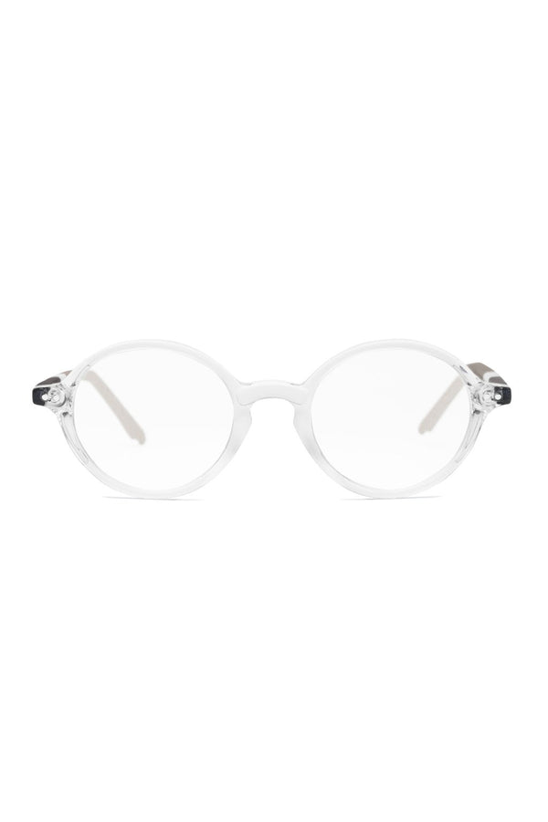 Clear and tan stripe Jene 101 Glasses by Coco and Breezy