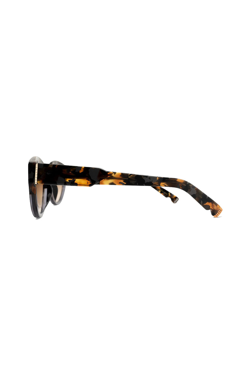 Peyton 102 Sunglasses with marbled frame and brown lenses by Coco and Breezy