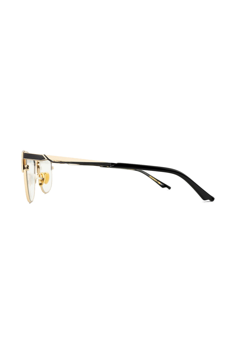 Black and gold Warrior 104 Glasses by Coco and Breezy