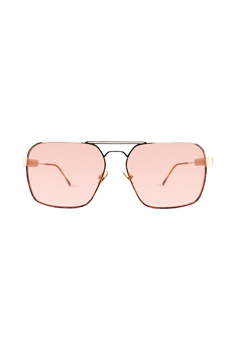 Gold frame red lens Zen 105 Sunglasses by Coco and Breezy