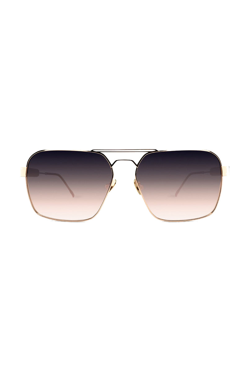 Ombre rose gold square Zen 102 Sunglasses by Coco and Breezy