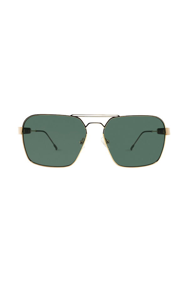 Gold Zen 103 Sunglasses with green lenses by Coco and Breezy