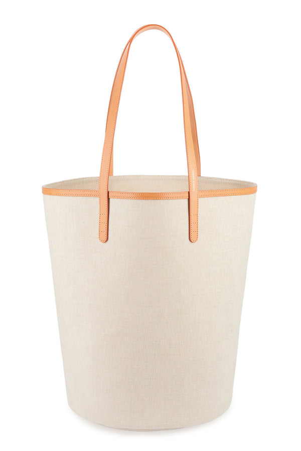 Canvas Circle Bucket Bag in Beige | Mansur Gavriel