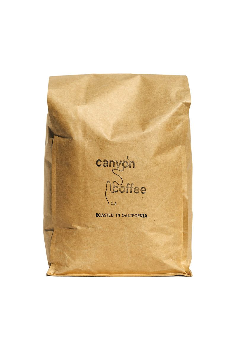 Bulk bag of Tolima Especial Colombian coffee from Canyon Coffee