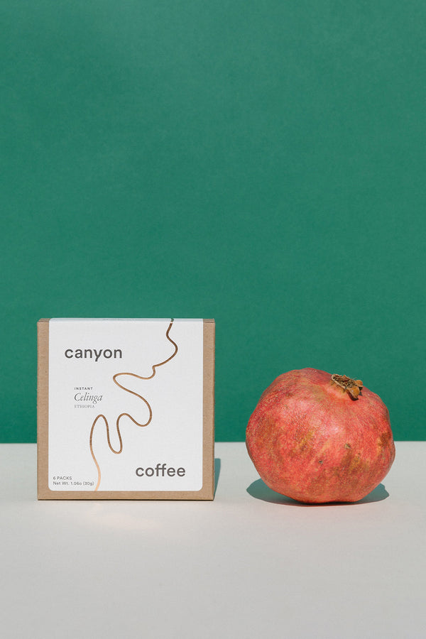 Instant coffee packets by Canyon Coffee