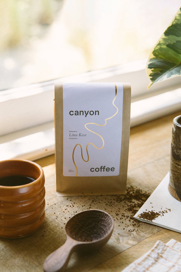 Bag of Limu Kosa Ethiopia Blend coffee by Canyon Coffee