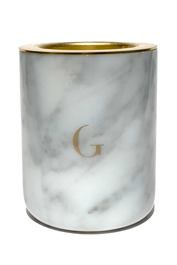 Carrera White Marble Scented Candle | Gilded