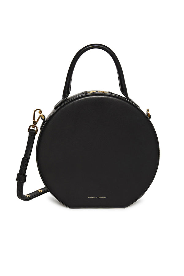 Black Thin Circle Crossbody Bag by Mansur Gavriel