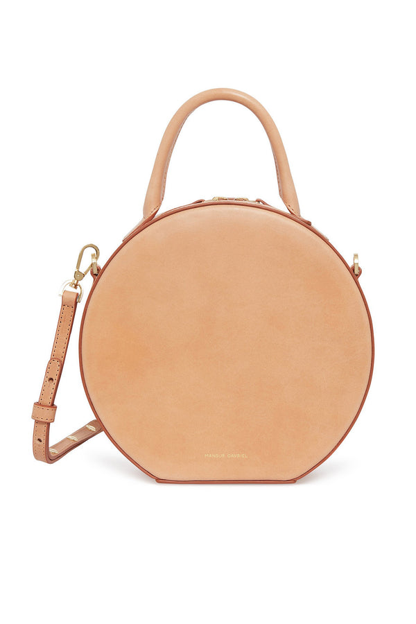 Camel Thin Circle Crossbody Bag by Mansur Gavriel