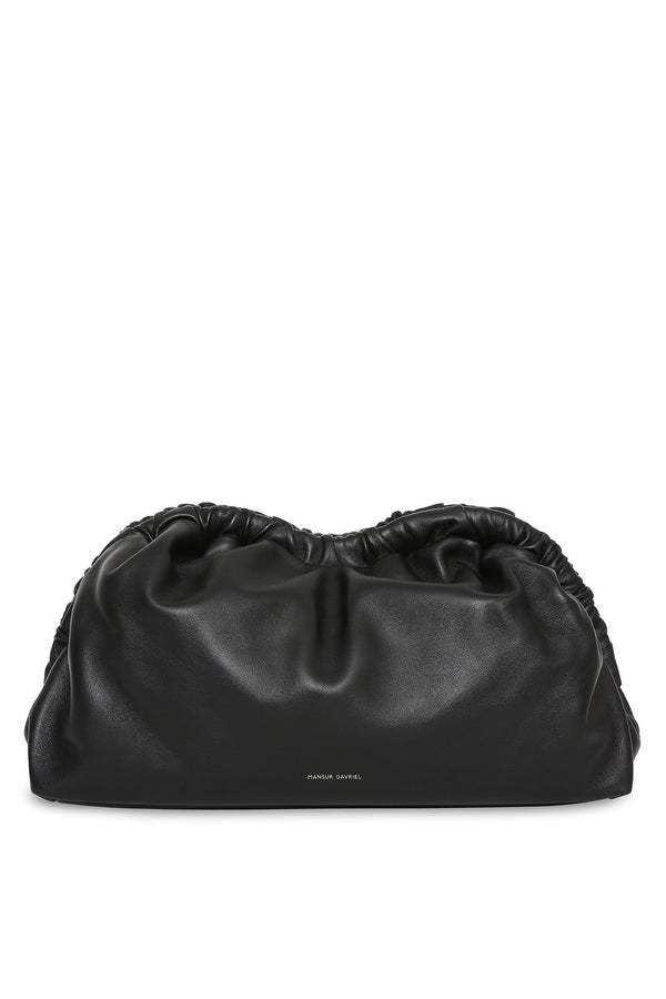 Cloud Clutch in Black with Flamma | Mansur Gavriel