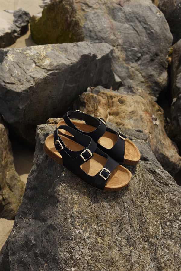 Cloud Sandal in Black | Mansur Gavriel