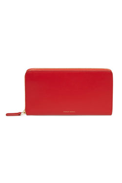 Red Two-Compartment Rectangle Wallet by Mansur Gavriel