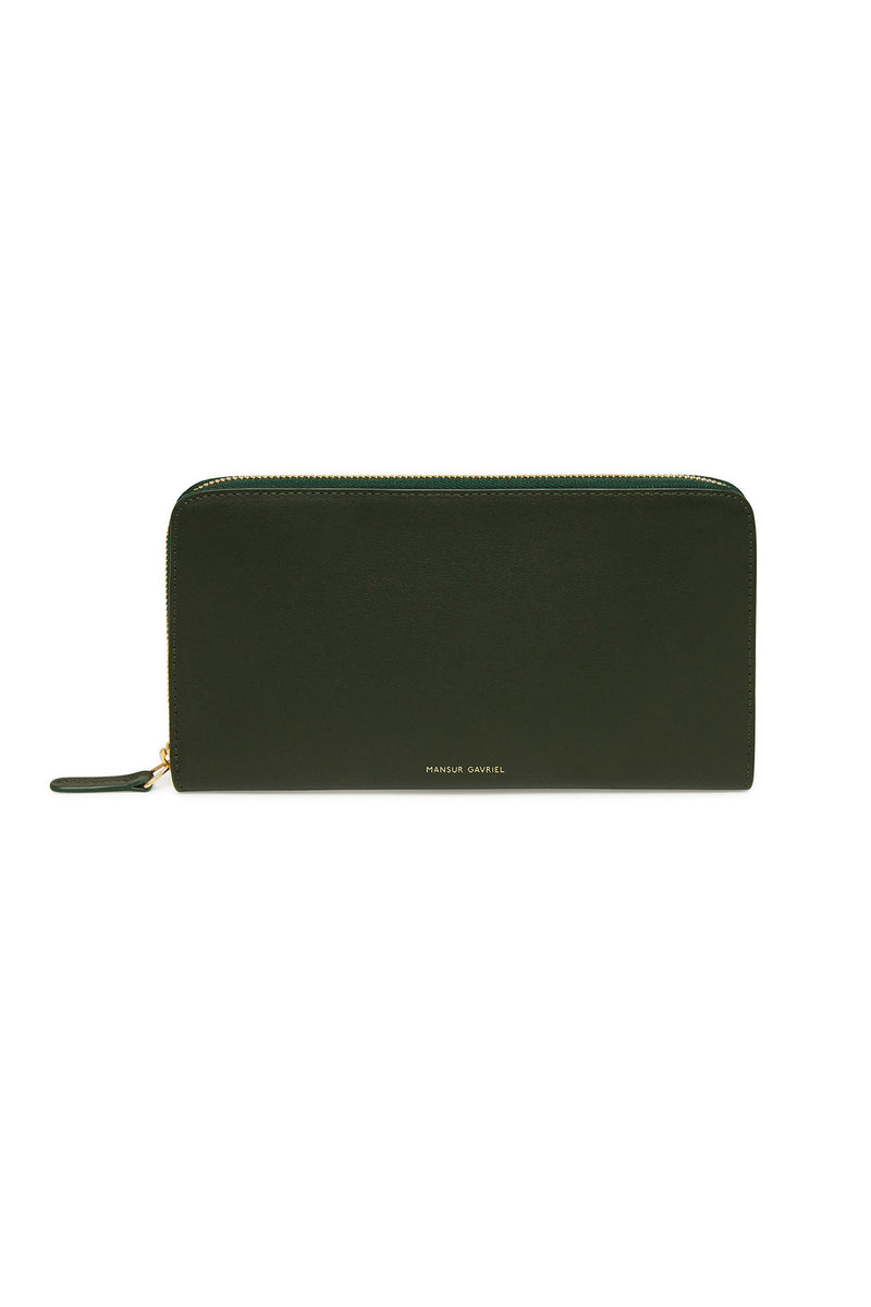 Moss Two-Compartment Rectangle Wallet by Mansur Gavriel