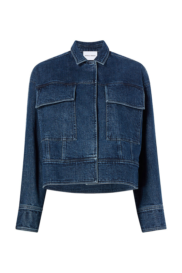 Emilie Denim Jacket in Blue by Michelle Waugh
