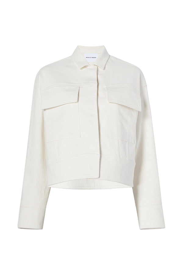 Emilie Denim Jacket in Cream by Michelle Waugh