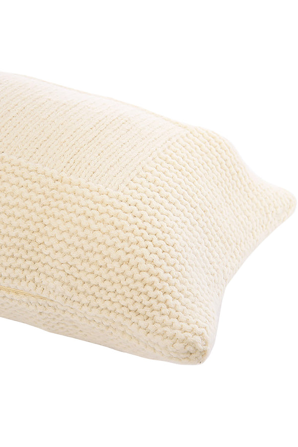 Abrazo Hand Knit Alpaca Pillow Cover in Cream by Sefte