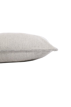 Camino Brushed Organic Alpaca Pillow in Silver by Sefte