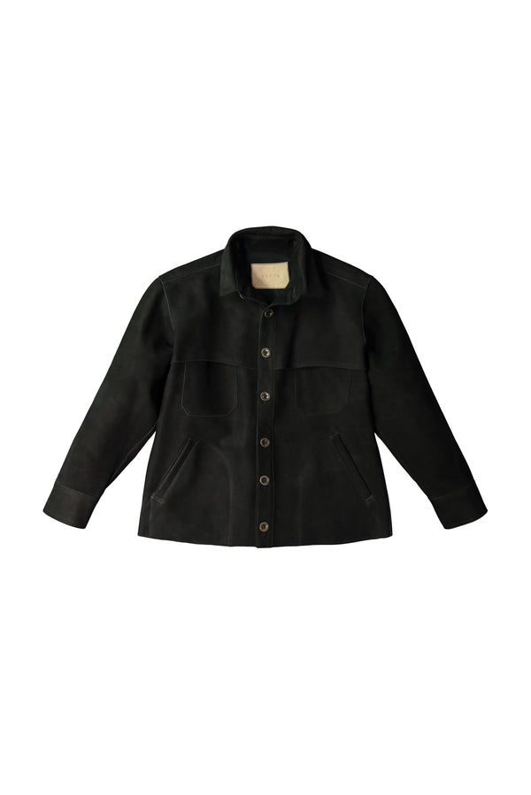 Black Agnes Leather Jacket by KUZYK
