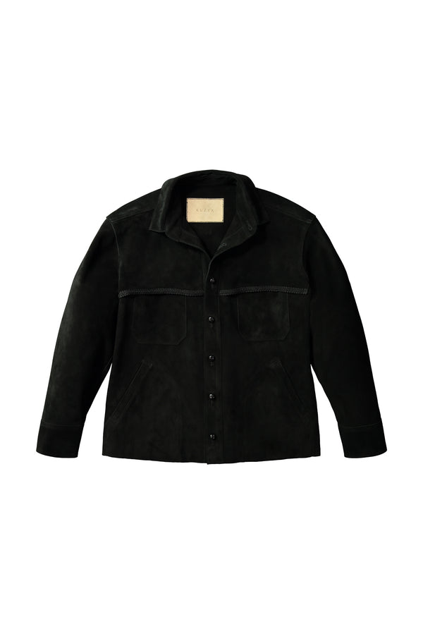 Black Penny Suede Jacket by KUZYK